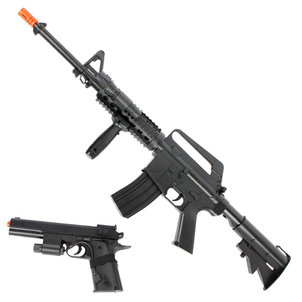 Colt M4/A1 RIS Spring Rifle & Pistol Kit | Golden Plaza