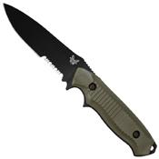 Benchmade Nimravus Combo Drop Point Fixed Blade Knife