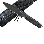 Benchmade Nimravus Combo Black Fixed Blade Knife