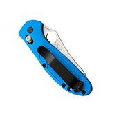 Benchmade Blue Mini Griptilian Satin Plain Blade Folding Knife