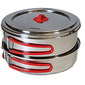 Coghlans Stainless Steel Family Cookset - Wholesale
