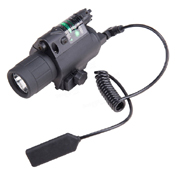 Tactical LED Flashlight with Laser Sight