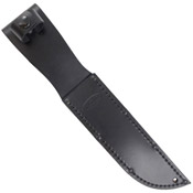 Full-Size Black Leather Sheath for 7 Inch Knife
