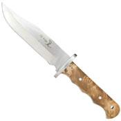 Elk Ridge Burl Wood Handle Fixed Blade Knife - Wholesale