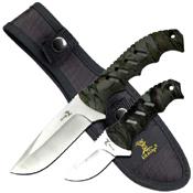 Elk Ridge 532CA Plain Edge Hunting Knife 2 Pcs Set