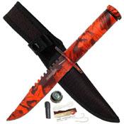 HK-690 4.25 Inch Blade Survival Knife with Nylon Sheath