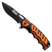 MTech USA A918 Black Finish Drop-Point Blade Folding Knife