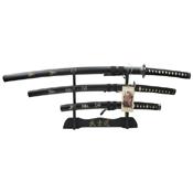 SW-68L Samurai Sword 3 Pcs Set with Display Stand