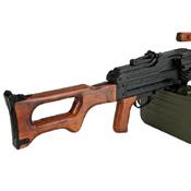 A&K Matrix PKM Russian Battlefield Squad Real Wood Airsoft Machine Gun - Wholesale