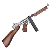 King Arms M1A1 HI Grade Thompson Silver Airsoft Rifle
