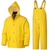 Pioneer Rainwear Jacket with Detachable Hood and Bib Pant