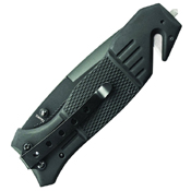 Smith & Wesson Black Coated Blade Rubber Coated Aluminum Handle Folding Knife
