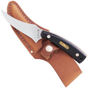 Smith &amp Wesson SW-152OTCP Schrade Sharpfinger Fixed Blade Knife with Leather Sheath Clam Pack