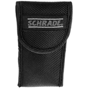 Schrade Old Timer Folder With Clip Point Hatchet And Saw Blades With leather sheath