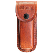Schrade 5 1/4 Inches Folding Hunter 2 Bladed With Leather Sheath