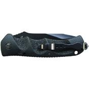 Schrade Black Tanto Steel Push Button Lock Folding Knife