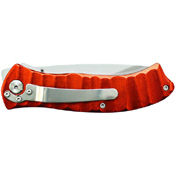 Schrade Orange Aluminum Folder Drop Point Steel Blade Folding Knife