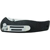Schrade Bead Blasted Plain Blade Carbon Fiber Handle Folding Knife