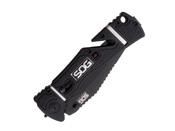 SOG Trident Elite Partially Black TiNi Folding Knife