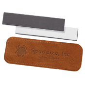 Double Stuff 1 x 5 Inch Sharpening Stone with Leather Case - Wholesale