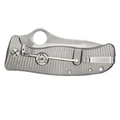 Spyderco LionSpy G-10 Titanium Plain Edge Folding Knife - Wholesale
