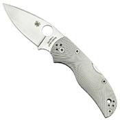 Spyderco Native5 Fluted Titanium Plain Edge Folding Knife - Wholesale