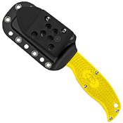 Enuff Salt Sheepsfoot Style Serrated Blade Fixed Knife - Yellow