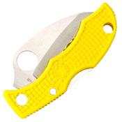 Ladybug 3 Salt Hawkbill Blade Folding Knife - Yellow