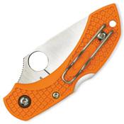 Spyderco MBORPE Manbug Key Ring Burnt Orange Knife - Wholesale