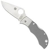 Spyderco Manbug Gray G-10 Plain Edge Folding Knife - Wholesale