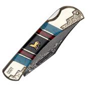 United Cutlery Frontier Howling Wolf Lockback Folder Blade Knife