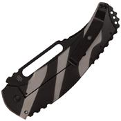 Willumsen Urban Tac Blondie Black Half Serrated Folding Knife