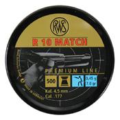RWS R10 Match .177 Pellets Airgun Ammunition - 500ct