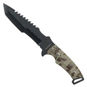 Black Blade Camo Handle 18 Inch Tactical Hunting Knife