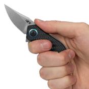 ZT 0022 Carbon-Fiber Front & Titanium Back Handle Folding Knife